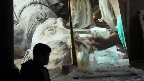 documenta 13, heads in media
