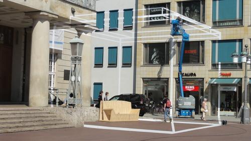 Weimar, Theaterplatz, Van der Felde Installation