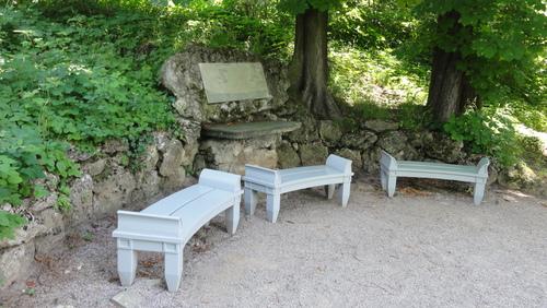 Weimar, Goethes Garten, Platz Frau von Stein