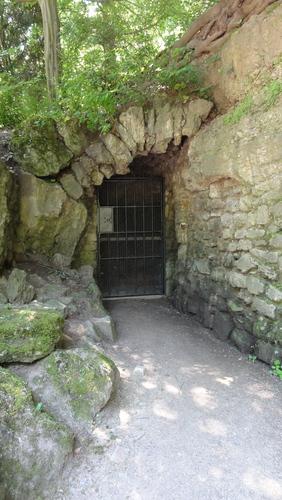 Park an der Ilm, Ausgang Parkhöhle