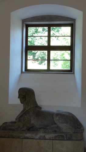 Weimar, Park an der Ilm, Römisches Haus, SPHINX