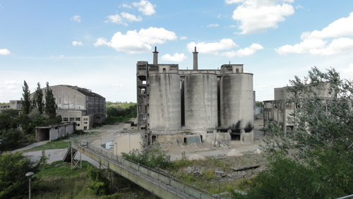 view to old factory