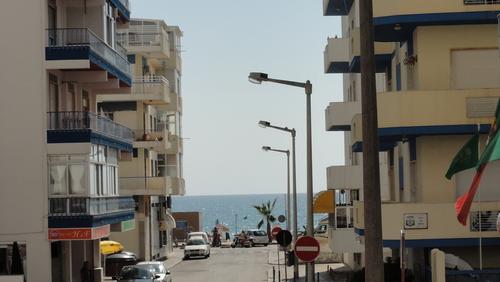 Quarteira Street to the Ocean