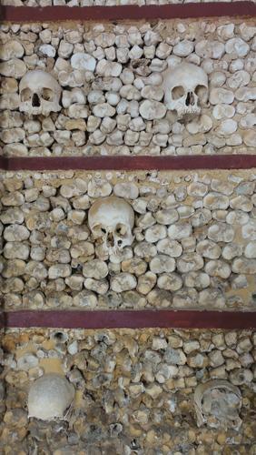 """Faro, Skulls at """"Nossa Senhora do Carmo"""""""