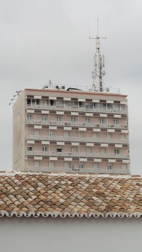 "Faro, Balkonies like Skulls at ""Nossa Senhora do Carmo"""
