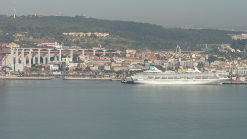 Cruising Ship in Lisboa Harbour