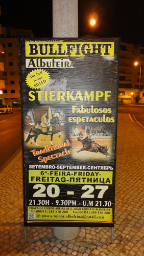 Quarteira Bullfight Poster