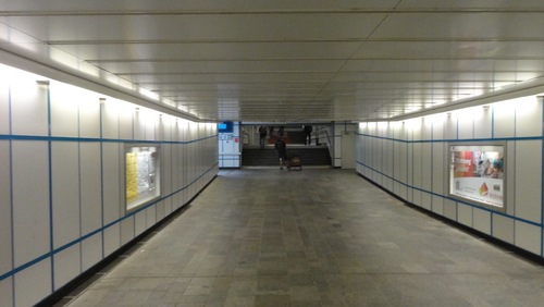 Tunnels at Cottbus station
