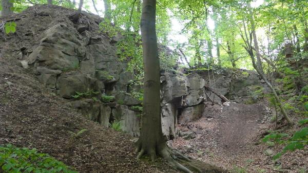 Kettwig, Wanderweg A2, Steinbruch