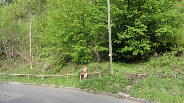 Halde in der Borbeck, Alte Zufahrt