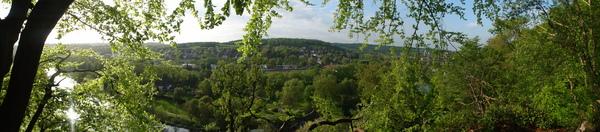 Blick Ruhrtal vom Alten Aussichtspunkt Pastoratsberg