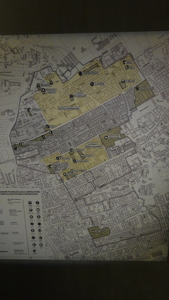Warszawa, Map of the Ghetto