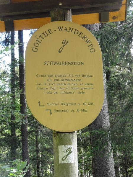Ilmenau, Goethe Wanderweg, Schwalbenstein