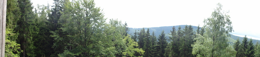 Ilmenau, Goethe Wanderweg, Blick vom Schwalbenstein