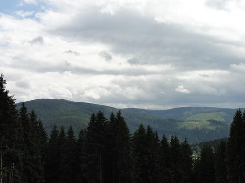Ilmenau, Goethe Wanderweg, Blick v.d. Marienquelle