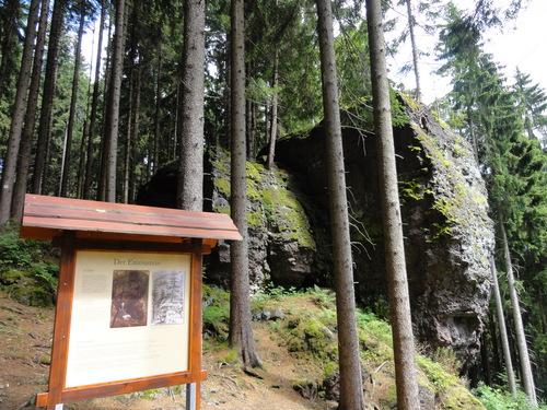 Ilmenau, Goethe Wanderweg, Emmastein