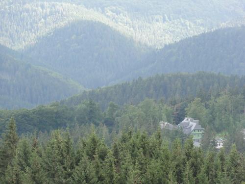 Ilmenau, Goethe Wanderweg, Blick vom Kickelhahn