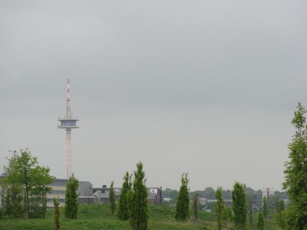 Essen, Krupp-Park, Blick nach Süden, Fernmeldeturm