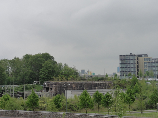 Essen, Krupp-Park, Blick nach Osten, Hauptbahnhof
