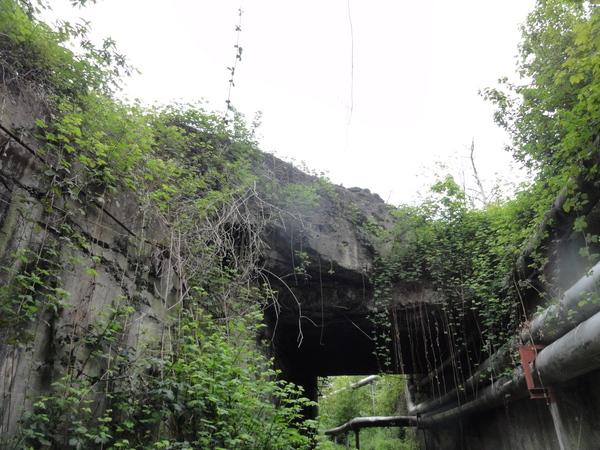 Essen, Kruppgelände, alter Eisenbahntunnel für Fernwärme