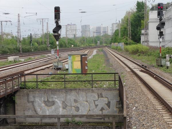 Essen, Westbahnof, gen Osten