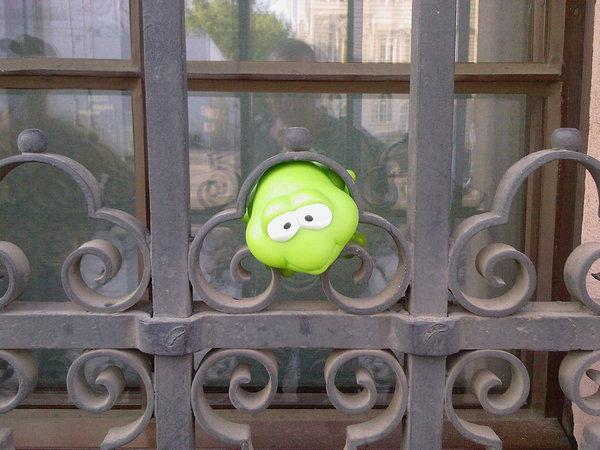 Frosch in der Klemme